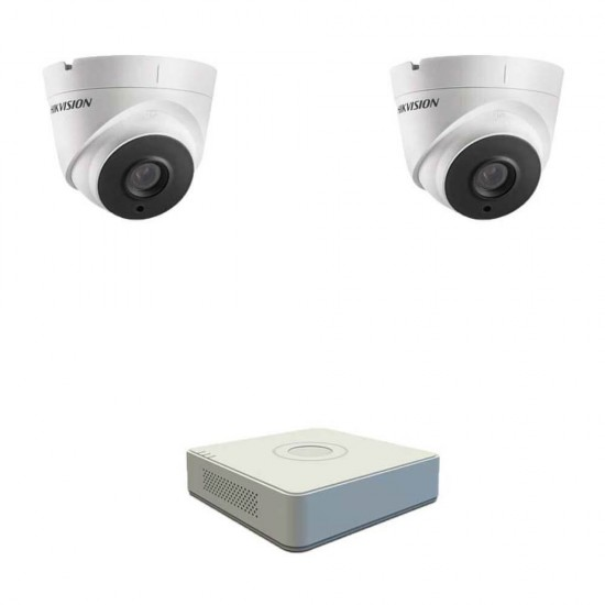 DVR pack with 2 dome Full HD cameras, IR 40m and 4ch DVR