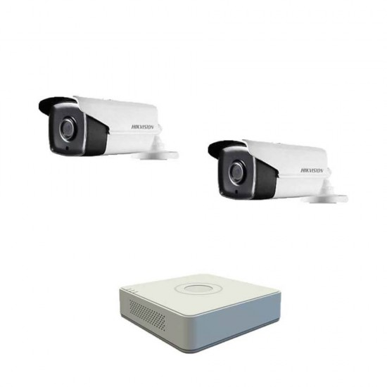 DVR pack with 2 Full HD cameras, IR up to 80m and 4ch DVR