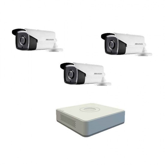 DVR pack with 3 Full HD cameras, IR up to 80m and 4ch DVR