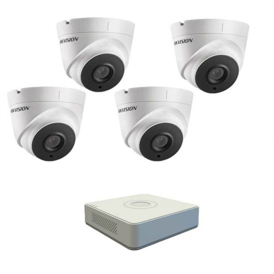 DVR pack with 4 dome Full HD cameras, IR 40m and 4ch DVR