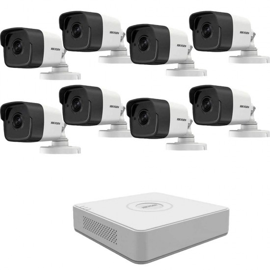 5MP TurboHD DVR kit Hikvision with 8 cameras