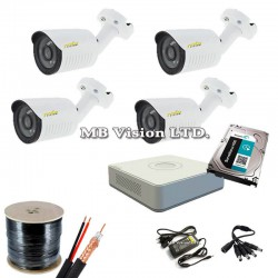 DIY full DVR kit with 4HD cameras Hikvision