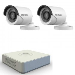 2 HD cameras kit + TurboHD DVR Hikvision